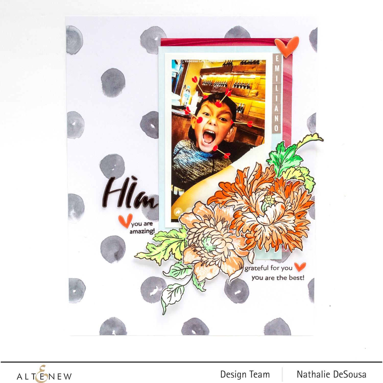 @Altenew_MAJESTIC BOUQUET Stamp Set Highlight by Nathalie DeSousa