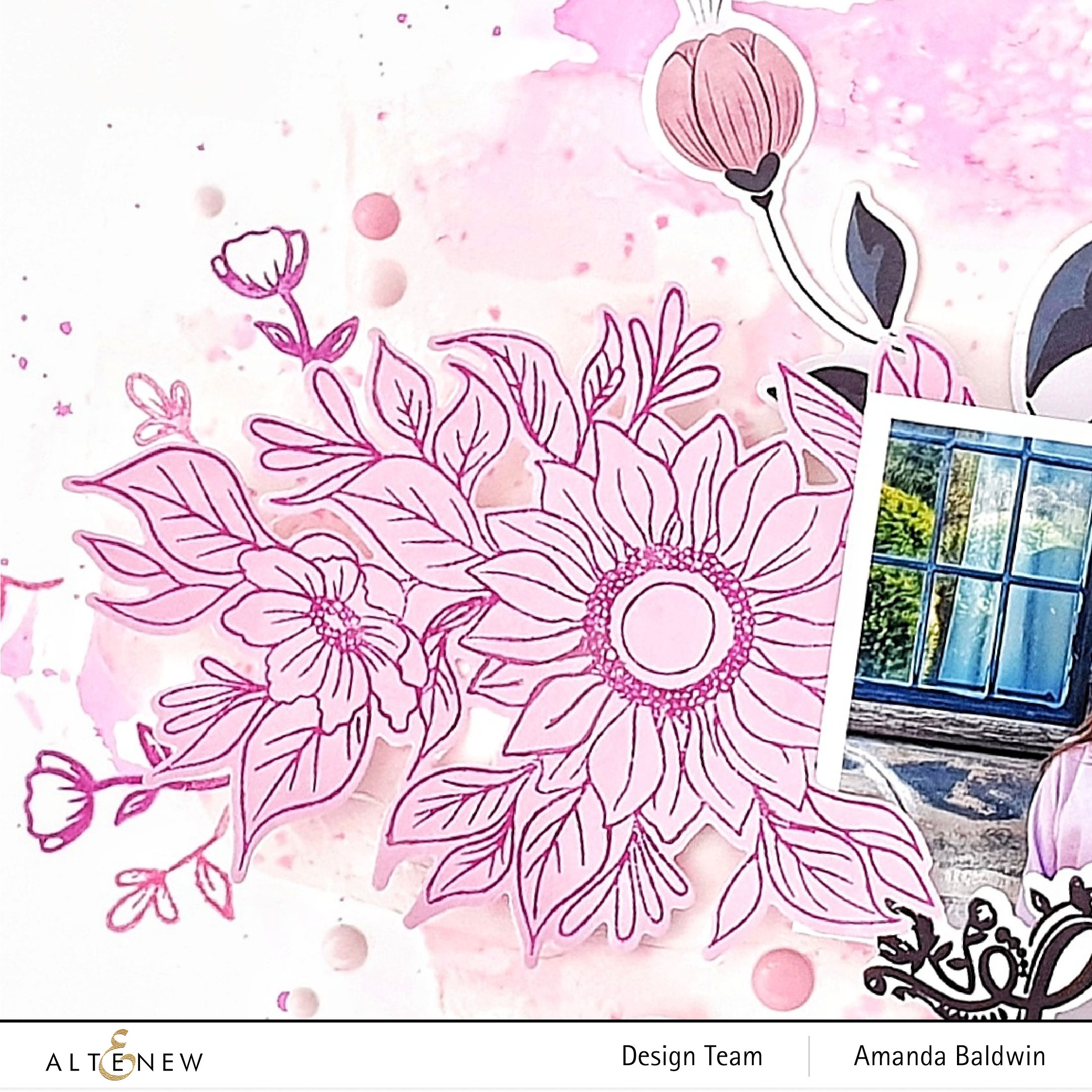 Blossom & Bloom Outline Stamp