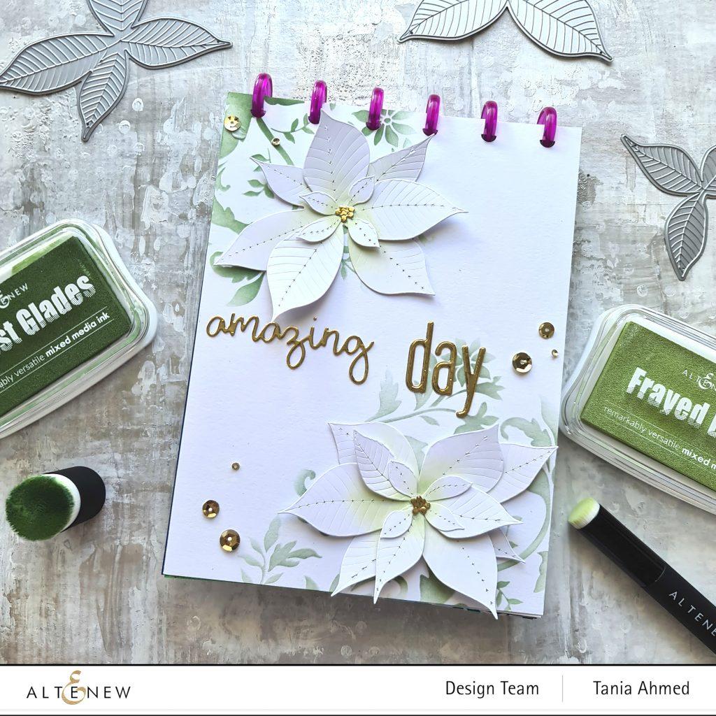 Elegant Monochromatic green Art Journal Page
