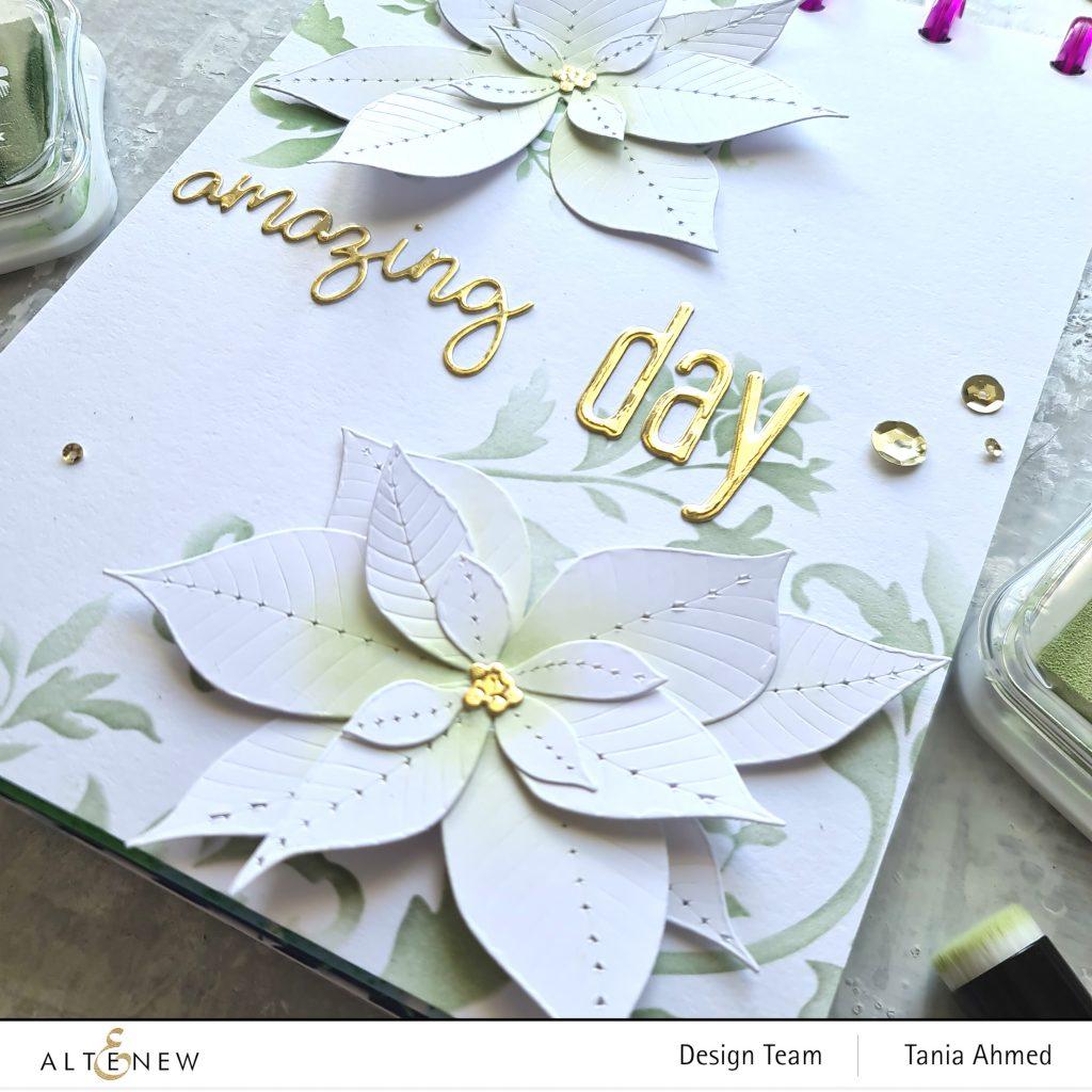 elegant die cut and ink blended art journal page